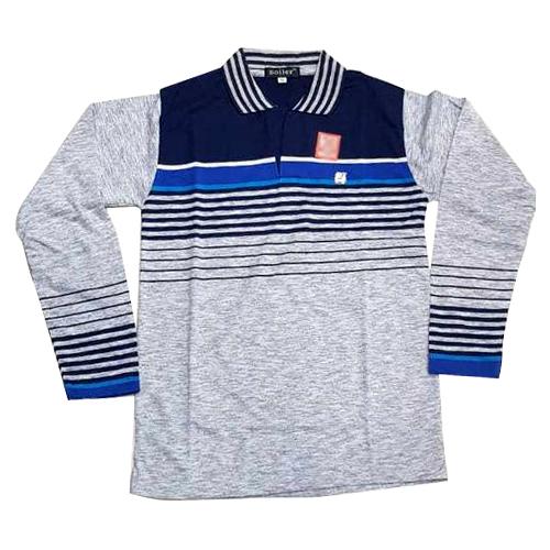 Mens Full Sleeve Collar Cotton T Shirt