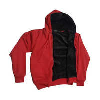 Kids Red Fleece Hooded Sweatshirt