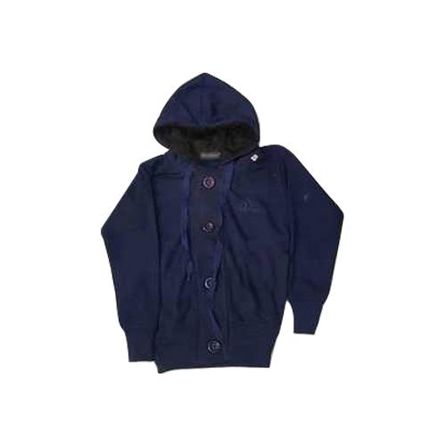 Kids Hooded Blue Fleece Sweatshirt