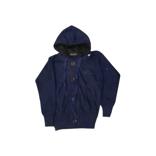 Kids Hooded Blue Fleece Sweatshirt
