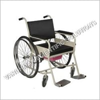 Foldable With Commode Wheel Chair