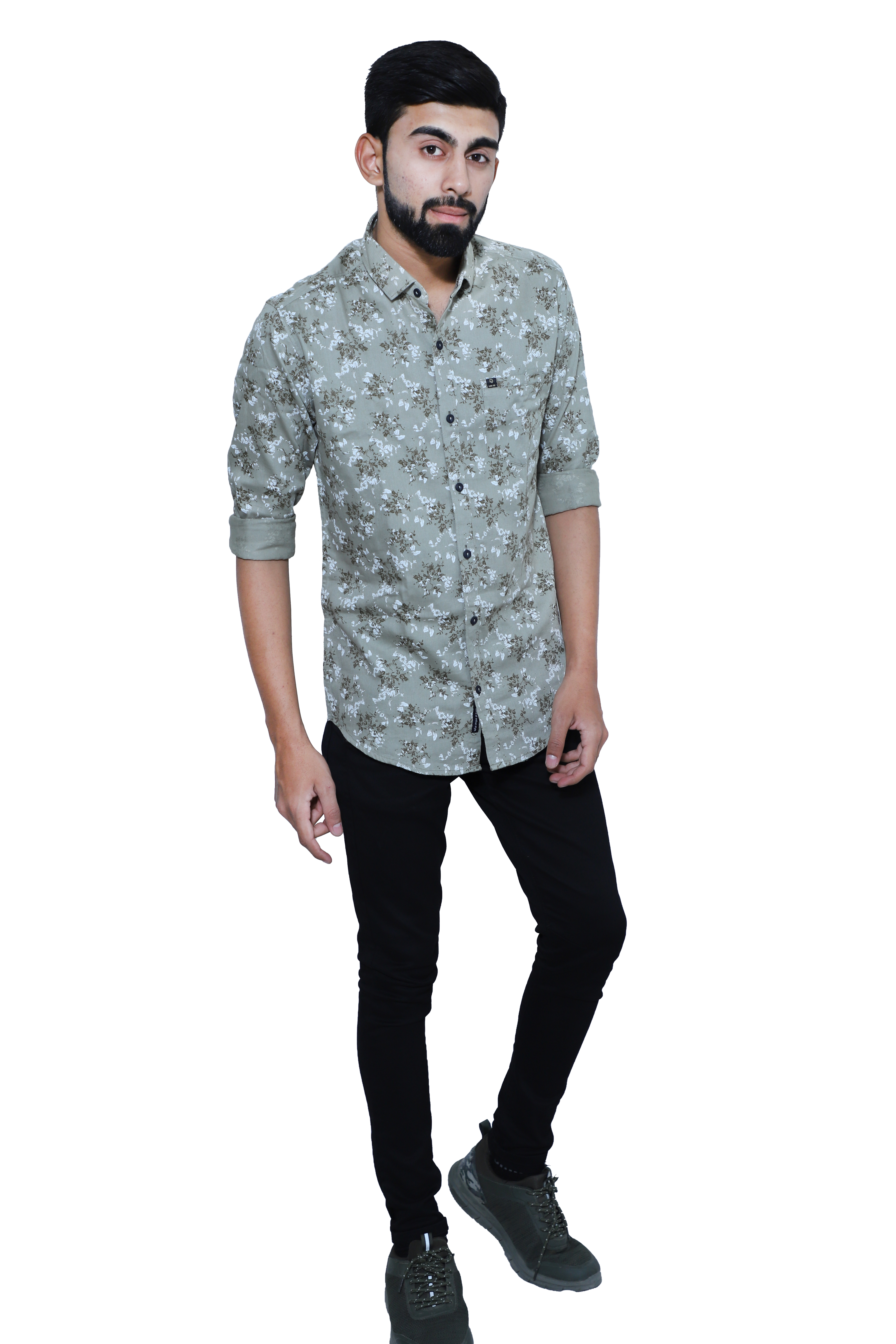 all size pure cottone printed casual shirts