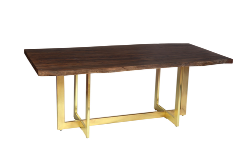 Industrial  table with gold coated iron legs