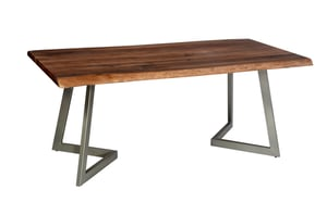 INDUSTRIAL WRITING ANTIQUE DINING TABLE
