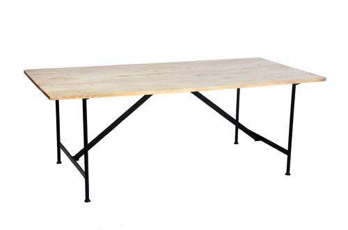 Industrial dining table with wooden top Artisan Table