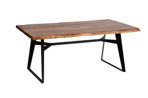 Vintage Industrial Table with Reclaimed Wood top
