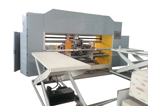 Corrugated Carton Box Double Pieces Stitching Machinery For 1200 - 1500mm Max Width Sheet