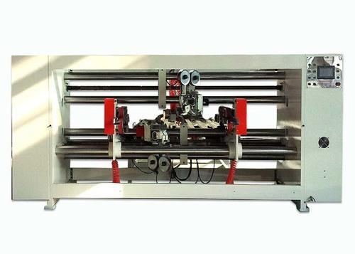 Double Servo Carton Box Stitching Machine , Semi - Auto Corrugated Stitching Machine
