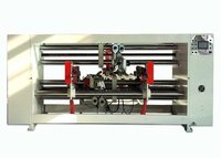 Double Servo Carton Box Stitching Machine , Semi - Auto Corrugated Stitching Machine