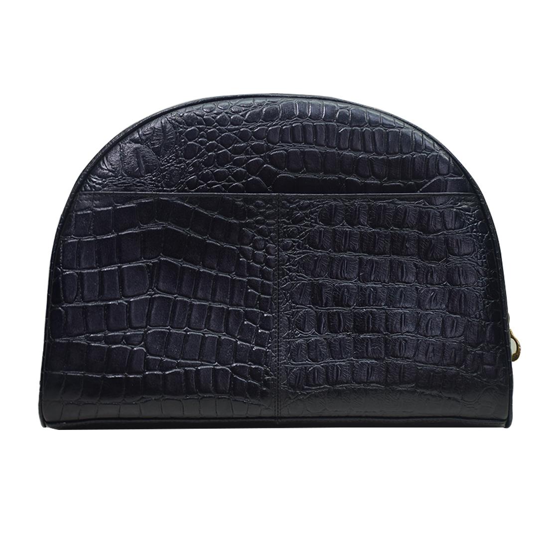 Croco Printed Designer Leather Clutch Bag