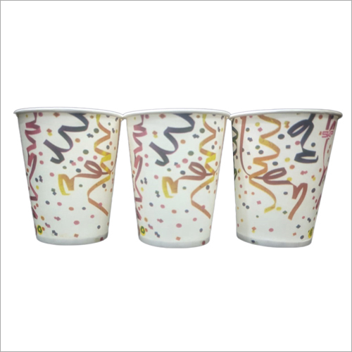 Multicolor Printed Juice Glass