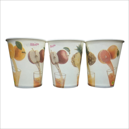 Designer Printed Disposable Juice Glass