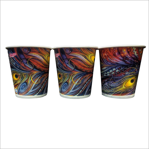 Designer Multicolor Printed Disposable Glass