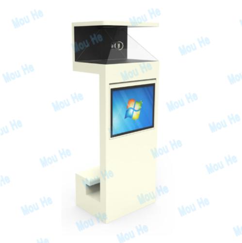 270 degree landing interactive holographic cabinet advertising machine