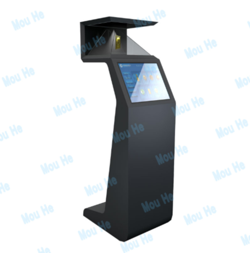 270 degree landing interactive holographic cabinet advertising machine