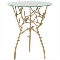 Gold Leaf Langley Accent Table