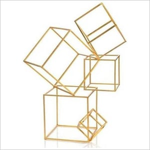 Iron Cube Abstract Sculpture