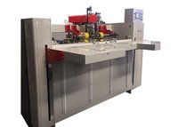Carton Box Double Servo One Piece Stitcher , Corrugated Carton Making Machine