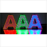 Acrylic Multi Color Pixel LED Signage Letter