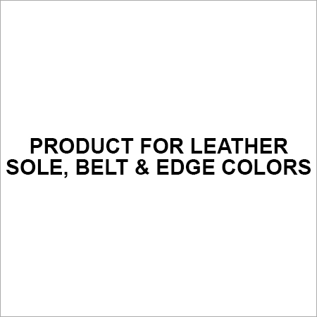 Product for Leather Sole, Belt & Edge Colors