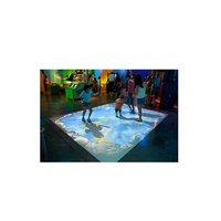 Interactive floor projection system 3 projector with high novelty