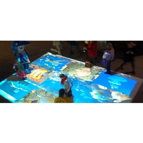 Interactive projection system game interactive floor projection