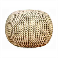 Knitted Pouf