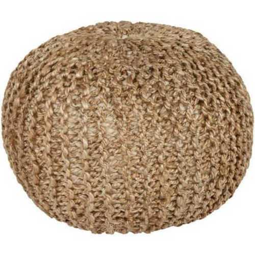Knitted Jute Pouf