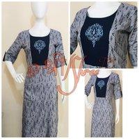 Embroidery Rayon Printed Kurti