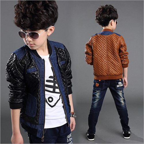 Kids Casual Leather Jacket