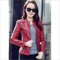 Ladies Casual Leather Jacket