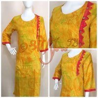Cotton Straight Fit Long Kurti