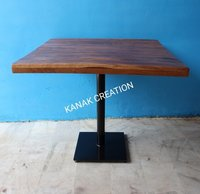 SQUARE INDUSTRIAL TABLE WITH SANDBLAST LEG