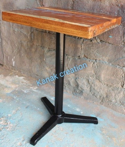 Industrial Black Spider Leg  with mango top Dining Table
