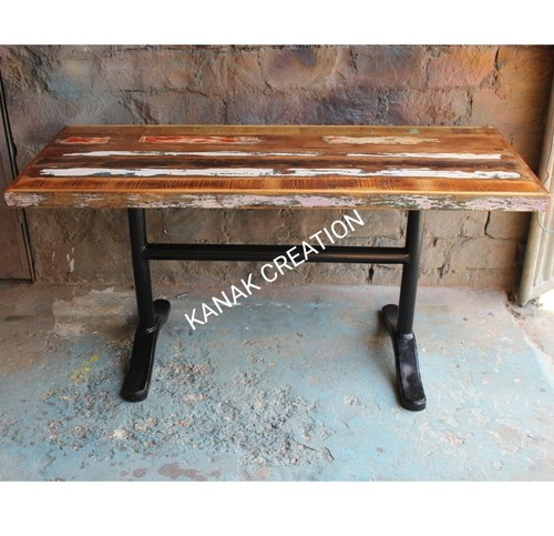 Antique Patinated- Top Dining Table