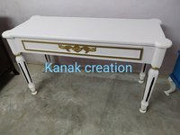 Industrial Indian Antique console white  Table with drawer