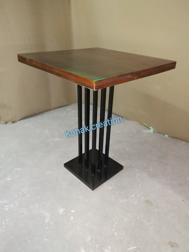 Industrial Dark Wood Dining Table