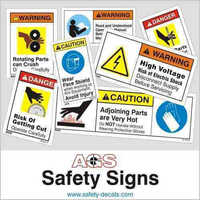 Safety Signs For Machines
