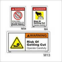 Saw Blade Safety Signs