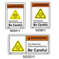 Decals For Automated Machine Signs