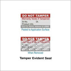 Tamper Evident Seal
