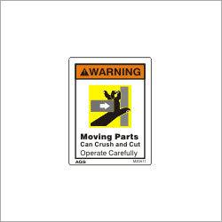 Punch Press Warning Sign