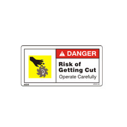 Cutter Warning Sign