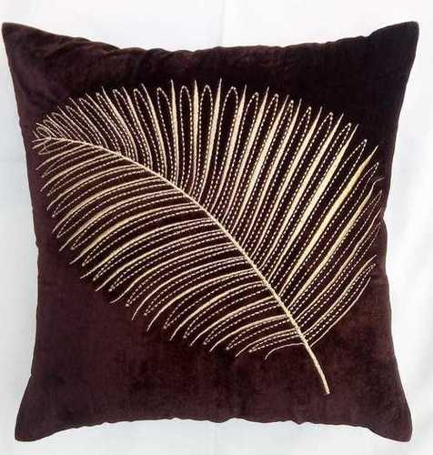 Zari Embroidered Rich Look Cushion Cover