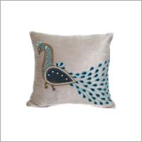 Peacock Print Cushion Cover