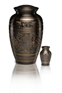 Platinum & Golden Brass Cremation Urn