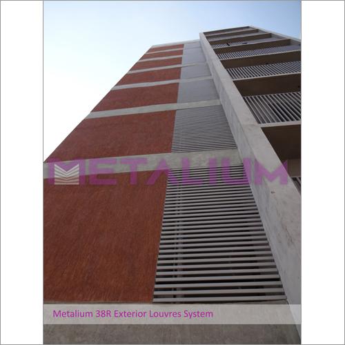 Metalium 38R Exterior Louvres System