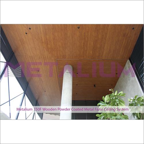 Metalium 150F Wooden Powder Coated Metal False Ceiling System