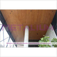 Metalium 150f Wooden Powder Coated Metal False Ceiling System