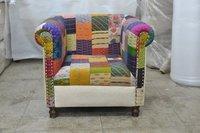 Wooden Single Sofa